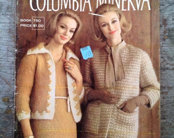 Vintage 1960's Columbia Minerva Mohair Yarn Knitting Pattern Book Volume 750
