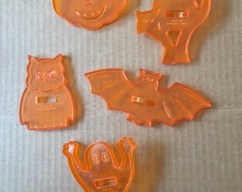 Vintage Halloween Cookie Cutters  Lot of 5