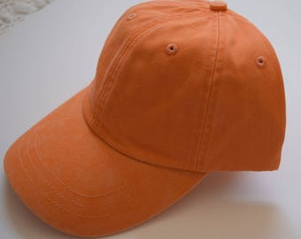 Adams Baseball Cap -Tangerine (Orange) Cap - Women or Men