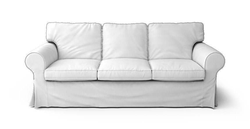 Ikea ektorp 3 seater sofa bed slipcover only in gaia white for Ikea sofa slipcovers discontinued