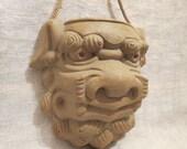 """Foo Dog Face Wall Pocket 6"""""""
