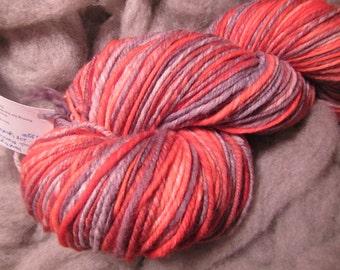 Hand Dyed, Hand Spun Superwash Merino yarn