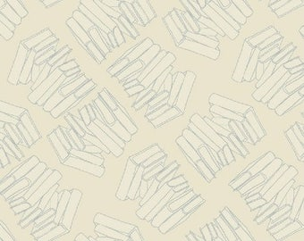 Stacks in Shhh  from the Literary Fabric Collection by Heather Givans for Windham Fabrics 42708-14