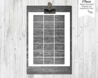 Matchbox Cover | Blank Printable Template | Instant Download | Digital File | Party Supply