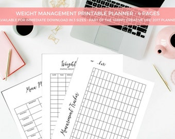 A4/USL/A5 Printable Diet Journal Printable Planner - Kikki K -  Organiser - Organizer - Project List - Planner Printable