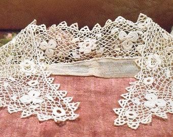 Antique Lace Vintage Lace Trim Irish Lace Edwardian Collar