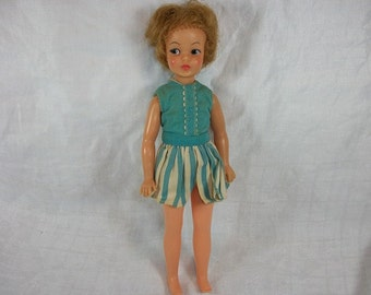 Vintage 1960's Ideal Pepper Doll with Original Outfit