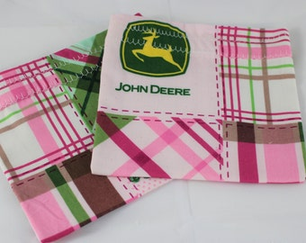 Snack Pouches - Reusable Snack Bags - Set of Two - John Deere Bags - Ready To Ship