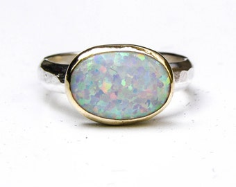 Opal ring, Engagement Ring ,Cocktail,  statement ring, Solitaire, Promise ring, Gift for her, valentines day gift, anniversary gift