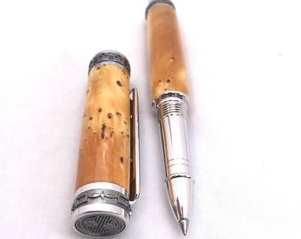 Handmade Wood Pen ** Wood Pen ** Rollerball Pen ** Rare Huon Pine Burl Wood - Unique Desk Gift - 5th Anniversary Gift * Wood Burl