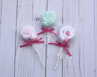 Baby washcloths lollipop washcloths baby girl shower gift