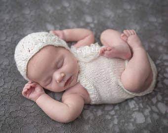 Newborn dress and bonnet set in soft baby wool