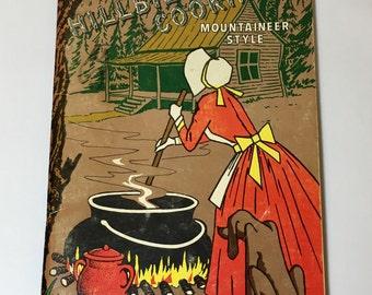Vintage Hillbilly Cookin Cookbook Mountaineer Style Elk Park N C