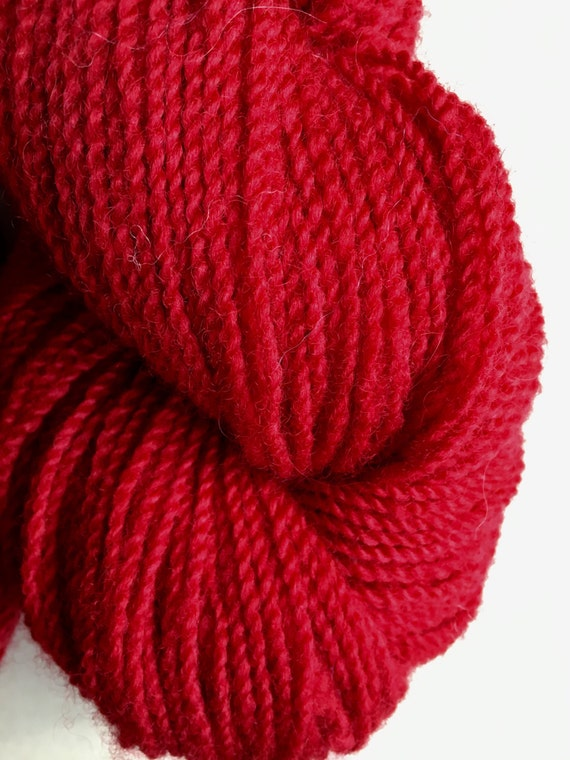 Ruby Red Maine Romney Worsted