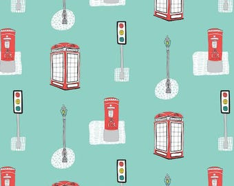Dashwood Studio - Street Life - Telephone Boxes & Street Lights Fabric Fat Quarts FQs or Yards