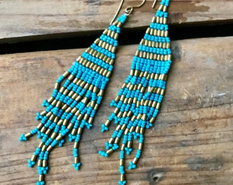 Turqioise, gold, beaded