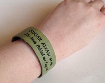 Edgar Allan Poe Library Cuff Book Bracelet