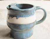 Ceramic  Cream Pitcher Syrup Jug Tableware Kitchen Dish  Blue Pottery  Handmade Stoneware Pottery