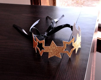 Star Headband.  Handcrafted in 2-3 Business Days.  Star Crowns as Party Favors.  Twinkle Twinkle Little Star Birthday Party.