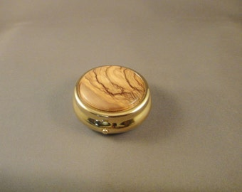 Medication Holder - Mini Pill Box - Purse - Olivewood