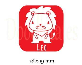 Horoscope Leo (Rubber Stamp)