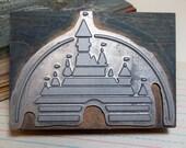 Disney Castle Wood Block Industrial Stamp