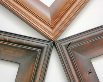 Sizes 4x4 to 8x8 Picture Frame / Knotty Alder Wood / Cottage Style
