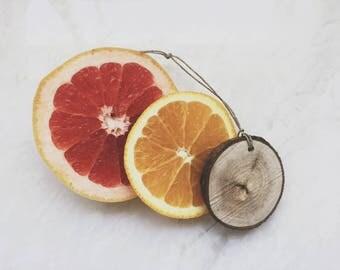 Citrus Scent Diffuser / Reclaimed Wood / Lemon Grapefruit Lime Orange / Air Freshener / Car Freshener / Affordable Party Favors For Guests
