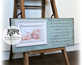 Picture Frame, Irish Blessing Frame, Personalized Picture Frame, Baptism Gift, Baby Picture Frame, 8x20 The Sugared Plums Frames