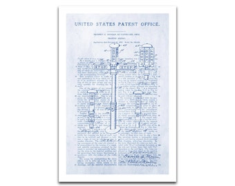 Traffic Signal Patent Art Giclee on archival matte paper