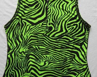 Cycling / Bike Jersey - Neon Animal Print - Plus size 1X