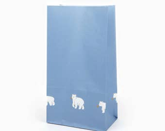 10 Patterned Friendly Bear Paper Bags - Great for goodies, gifts, envelopes, party favors, for your scrapbooking projects, wrapping paper