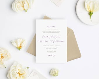 Wedding Invitation Sample - The Hailey Suite