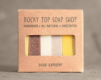 Facial Soap Sampler - All Natural Soap, Handmade Soap, Cold Process Soap, Unscented Soap, Vegan Soap, Facial Soap