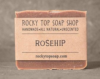 Rosehip Soap - All Natural Soap, Handmade Soap, Cold Process Soap, Unscented Soap, Vegan Soap