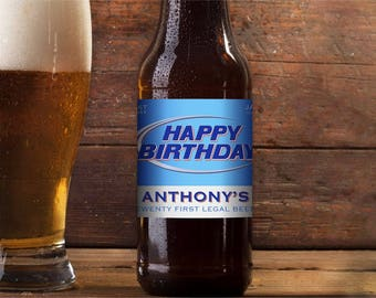 Beer Labels, custom beer labels, custom labels, custom celebration labels, beer, beer label, personalized beer labels, Happy Birthday