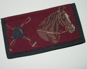 Horse and Hound Checkbook Cover, Equestrian Checkbook cover Wallet 3 Colors