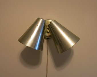 Lamp atomic 1950s wall light sconce gold starburst no wiring needed!