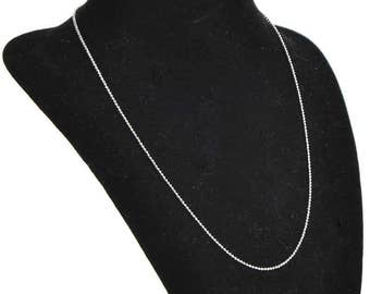 6 Silver Plated Ball Chain Necklaces 20 inch