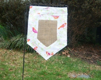 Personalized Spring Garden Flag