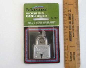 Master Lock Padlock No. 44-D - Vintage Unopened NOS, Made in USA