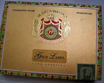 Cigar Box for Crafting -  Macanudo Shakespeare - Empty Box