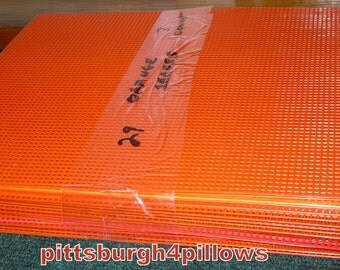 Newly Listed - 29 - Orange Shades -  Plastic Canvas Sheets - 13 1/2 x 10 1/2 - New Old Stock - Read Below