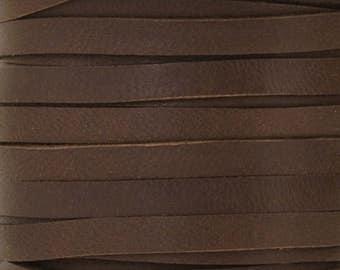 Leather-3mm Deerskin Lace-Chocolate-50 Feet