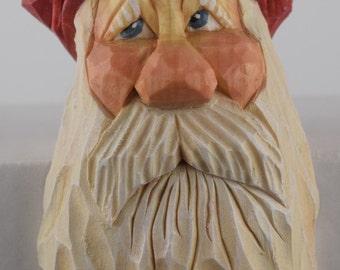 Santa shelf elf Christmas wood carving Nordic Scandinavian