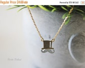 Mustache Necklace in Matt Silver/ Gold. Mo with Hat. Fun and Cute. Whimsical. Everyday Wear. Unisex Gift (PNL-66)