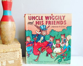 Uncle Wiggily and his Friends 1939 Vintage Children's Book...Beautifully Illustrated.