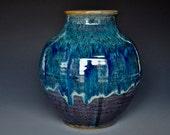 Blue Pottery Vase Stoneware Flower Vase Handmade Ceramic Vase Pottery G