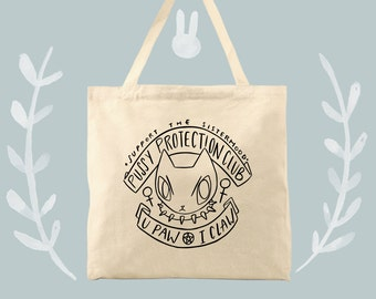 Pussy Protection Club Womens Feminist Stay Strong Cotton Canvas Tote