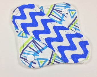 "Cloth Panty Liner 6"" Mod Chevron Mix Up"
